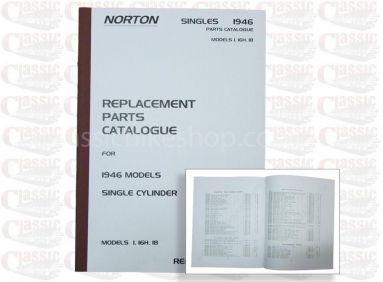 Norton 1946 models 1, 16H 18 Parts Book
