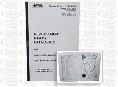 Ariel 1933/34 Square 4 - 4F/6 Parts Book