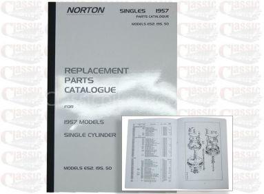 Norton 1957 ES2 19S 50 Parts Book