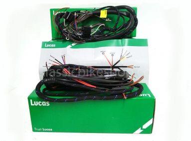 Lucas headlamp wiring harness triumph tr6 t120 bsa