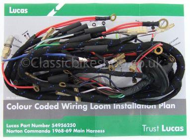 Wiring Loom Harness Norton Commando 1968-69