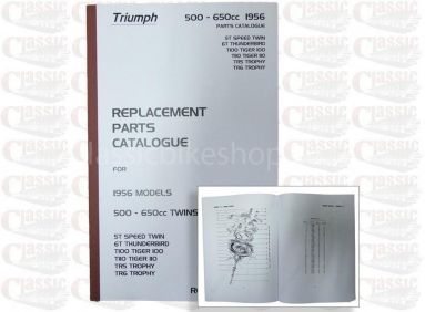 Triumph 1956 p/u Parts Book