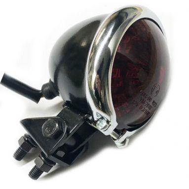 LED Black And Chrome Adjustable Tail Light