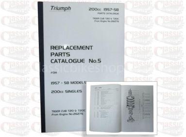 Triumph 1957/58 T20 Parts Book