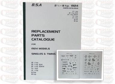 BSA 1924 Parts Book All Models