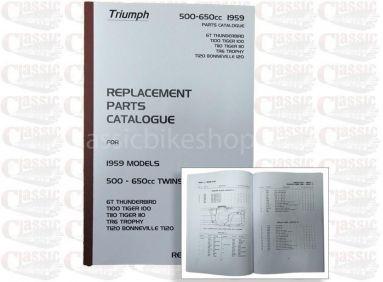 Triumph 1959 p/u Parts Book