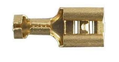 6.3mm Female Spade Connectors Solder On type/ 10 In Pack