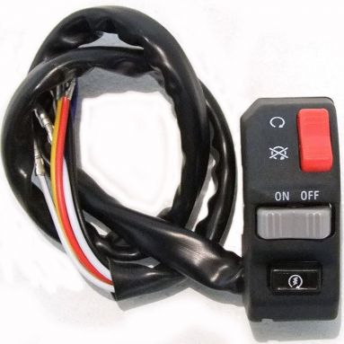 Motorcycle handlebar switch right hand kill on off start