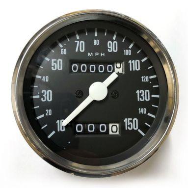 Speedometer Black Face (MPH) Ratio  1.25-1/ 15-12