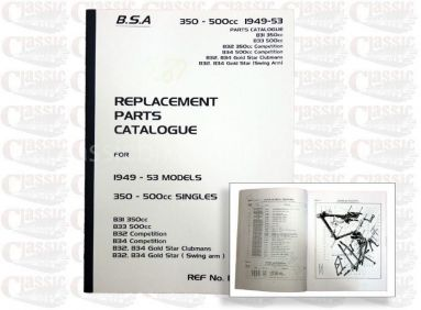 BSA 1949/ 53 B31 Parts Book