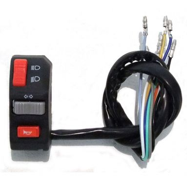 Motorcycle handlebar switch left hand lights high low indicator horn