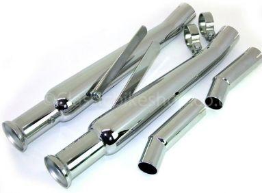 Triumph bonneville silencer kit with Upswept silencers