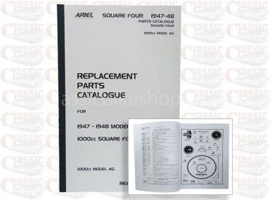 Ariel 1947-48 Sqaure 4,4G, Parts book