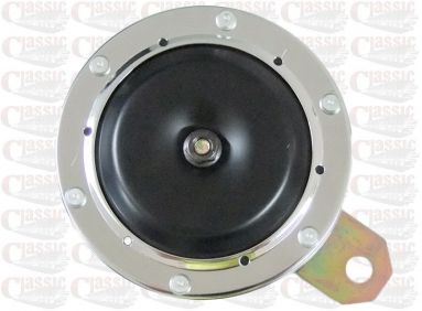 6 Volt Classic Chrome Rim Horn 100mm Diameter