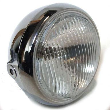 Headlight round chrome complete universal 4.1/2