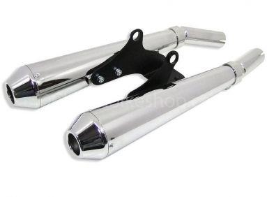 Triumph T100 New Bonneville Megaphone Silencer Kit
