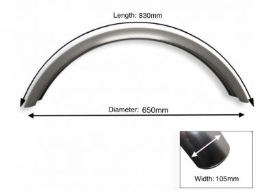 "Plain Steel Front Mudguard 19"" Inch Wheel"