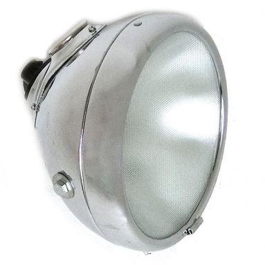 Chrome 8'' Inch Headlight / Flat Glass