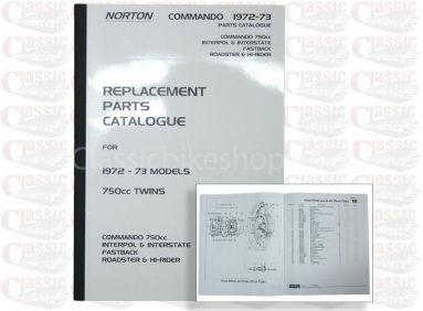 Norton 1972 -73 750 Commando Parts Book