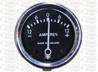 12 Volt Ammeter 1.5/8'' Aperture
