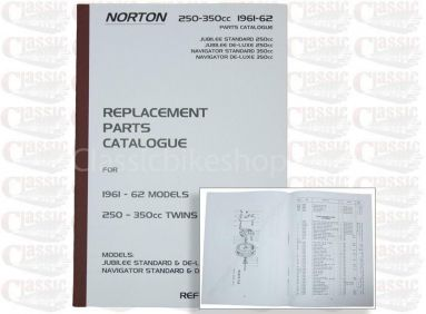 Norton 1961-62 Jubilee, Navigator Parts Book