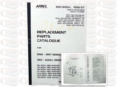 Ariel 1956/57 Singles Parts Book