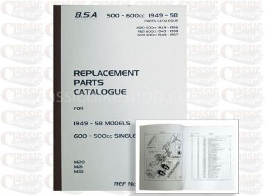 BSA 1949-58 M20 Parts Book