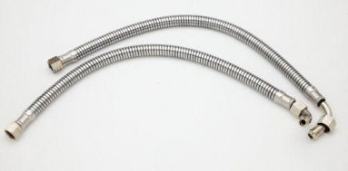 BSA B Group Armoured Oil Feed Pipes (Over Gearbox Routing)