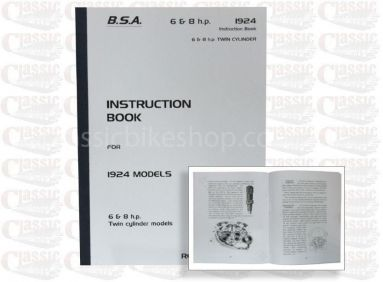 BSA 1924 6 & 8hp Models Instruction Book