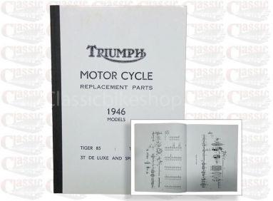 Triumph 1946 Tiger 85, Tiger 100 3T Parts Book