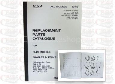 BSA 1949 Parts Book All Models