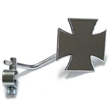 Handlebar Mirror Maltese Cross
