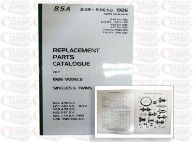 BSA 1926 Parts book all models