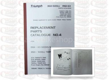Triumph 1961-63 3TA. 5TA, T100A, 100SS Parts Book