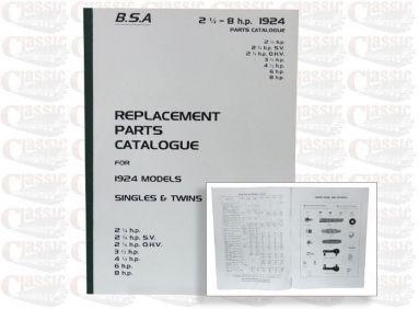 BSA 1925 Parts Book All Models