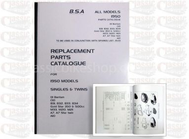 BSA 1950 Models  D1 bantam C10 B31 B32 b33 B34