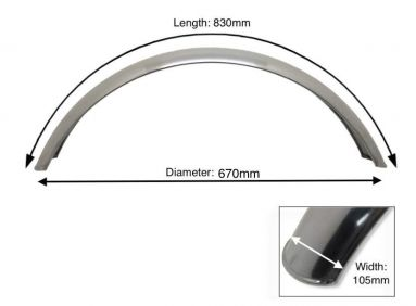 """Alloy Front Mudguard 21"""" Inch Wheel"""