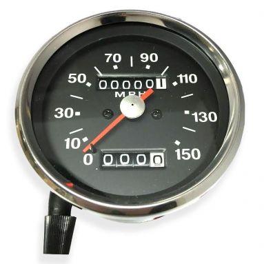 Speedometer Black Face (MPH) Ratio 1.25 - 1