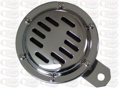 6 Volt Chrome Grill Horn 100mm Diameter