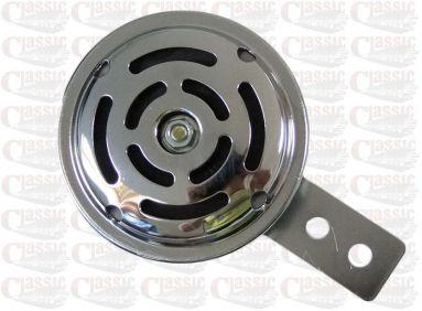 6 Volt Chrome Horn 70mm Diameter