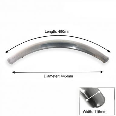 """mages - Short Alloy Mudguard 17"""" - 19"""" Inch Wheel"""
