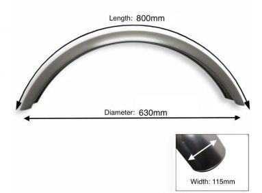 "Plain Steel Front Mudguard 17"" - 18"" Inch Wheel"