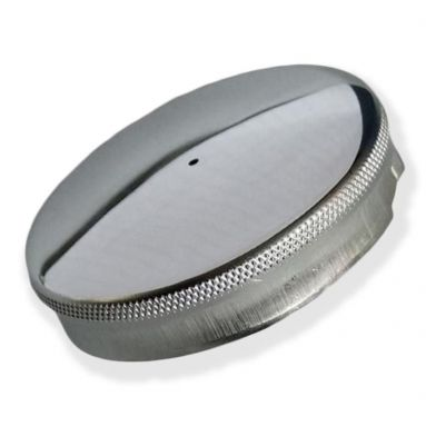 """2 1/2"""" Inch Domed Chrome Fuel Tank Cap"""