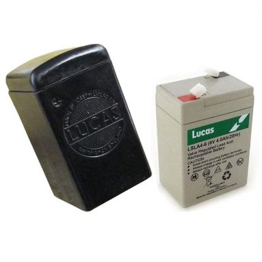 Lucas Battery Box with 6V Dry Cell Battery