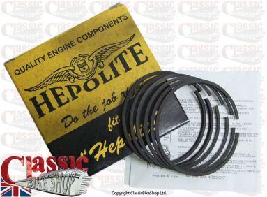 Hepolite Piston Ring Set Triumph 650cc T120 R11050 +060''