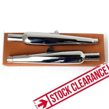 BSA Rocket Gold Star Silencers (Short Type)