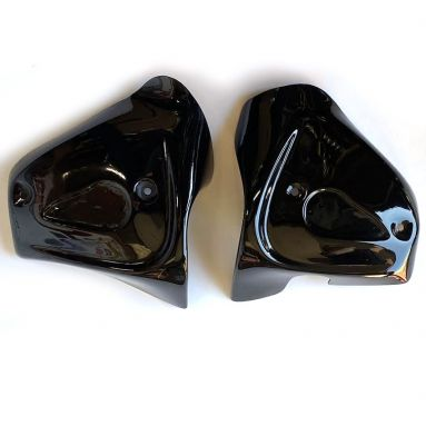 BSA A65 Twin Carb Black Side Panels with Badge Recess 68-9282/3