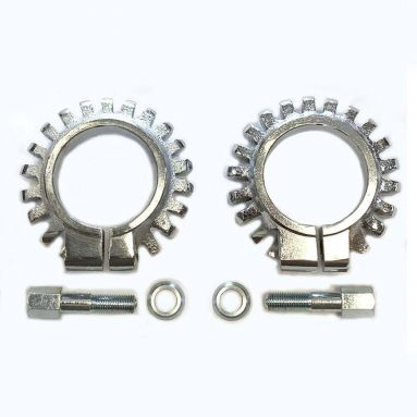 Triumph 1.5/8'' Finned Chromed Exhaust Clamps Pair 70-4947