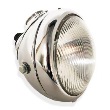 "Lucas MU42 Style Headlamp 6 1/2"" Inch Chrome"