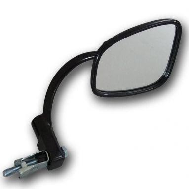Handlebar End Mirror/ Stadium Style Black